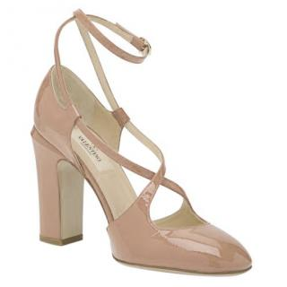 Valentino Mambo Patent Leather Nude Pumps