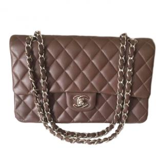 2c4dc4a63dcf Chanel Classic Double-Flap Brown Quilted-Leather Bag