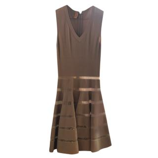 Alaia Ladder-Stitch Nude A-line Dress