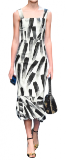 Dolce & Gabbana Brushstroke-Print Dress