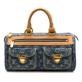 Louis Vuitton Denim Blue Monogram Neo Speedy Handbag