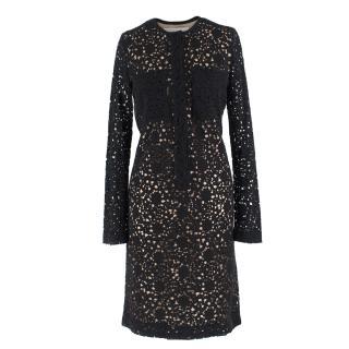 Victoria Victoria Beckham Black Lace Dress