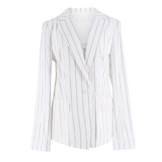 Dion Lee White Striped Blazer