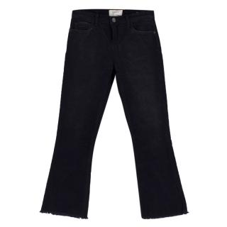 Current/Elliott 'The Kick Jean' Black Corduroy Trousers