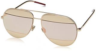 Dior Split 1 Mirrored Rose-Gold Aviator Sunglasses