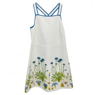 Tory Burch Floral-Embroidered Cotton Dress