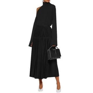 Stella McCartney Black Pleated Midi Skirt