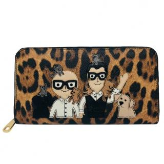 Dolce & Gabbana Applique Leopard-Print Wallet