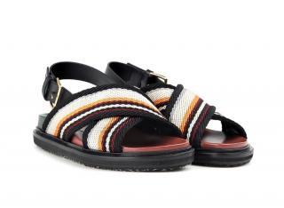 Marni Fussbett Criss-cross sandals