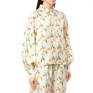 Shrimps Bellatrix Daffodil-Print Shirt