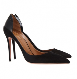 Aquazzura Black Suede Fellini Pumps