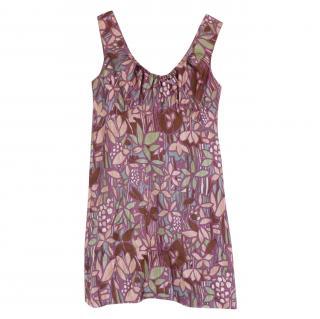 Marni Abstract Floral-Print Sleeveless Dress