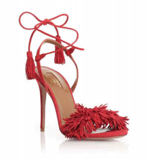 Aquazzura Wild Thing 105 Red Sandals