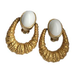 Kenneth Jay Lane Vintage Door knocker Earrings