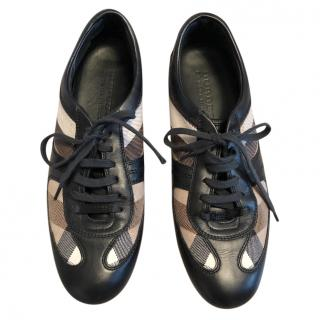 Burberry Leather Nova Check trainers