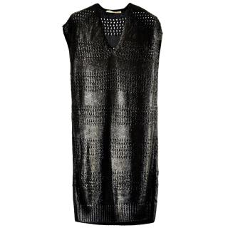 Balenciaga Metallic Open Knit Dress