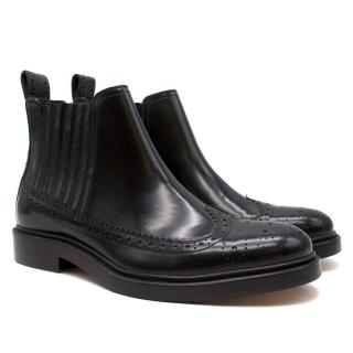 Joseph Black Leather Chelsea Boots