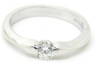 Mappin & Webb Platinum Set 0.25ct Diamond Ring