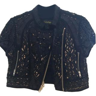 Malandrino Laser-Cut Cropped Jacket