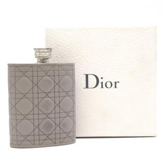Christian Dior Grey Leather Hip Flask