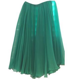 Chloe Green Silk Skirt