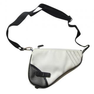 Dior Black & White Denim Mini Saddle Bag