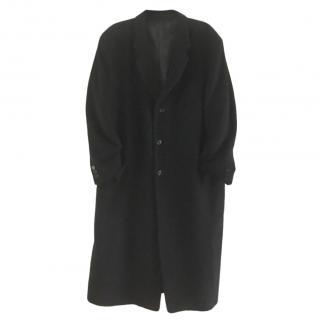 Donna Karan Black Wool & Cashmere-Blend Coat