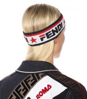 Fendi Logo-Jacquard Headband