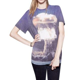 Christopher Kane Blue Atomic Bomb-Print T-shirt