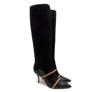 Malone Souliers Madison Tall 85mm Black Knee-High Boots