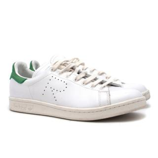 Raf Simons x Adidas White & Green Suede Stan Smith Trainers