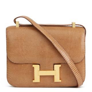 2c6423f3cbab Hermes Vintage Lizard Sesame Constance 23 Bag