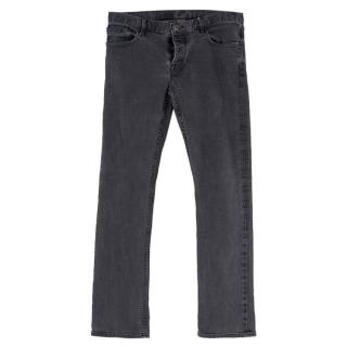 Burberry Men's Regular Fit Grey Jeans