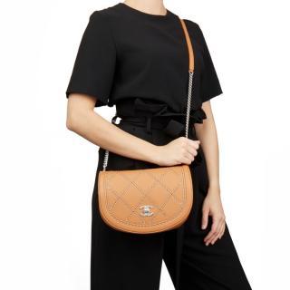 Chanel Coco Eyelets Tan Round Flap Bag