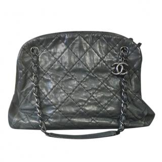 c59a3f4e5899 Chanel Black Grey Just Mademoiselle Bowling bag