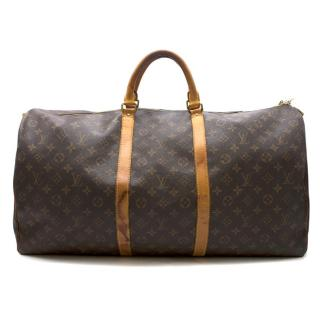 Louis Vuitton Keepall Bandouliere 60 Monogram Canvas Bag
