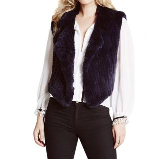 The Soho Furrier black rabbit fur gilet