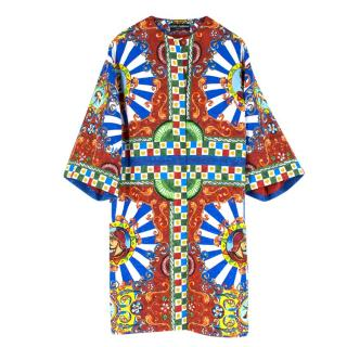 Dolce & Gabbana Multi-coloured Printed Coat