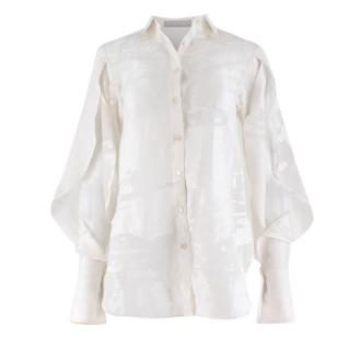 Palmer Harding White Fil Coupe Sheer Shirt