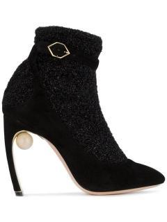 Nicholas Kirkwood Black Lola Pearl Sock Boots