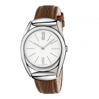 d499210fc33 Gucci Stainless Steel   Leather Horsebit Watch