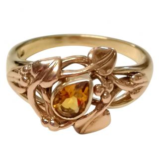 Clogau Welsh Gold Citrine Tree Of Life Ring