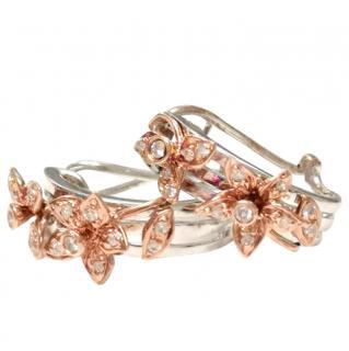 Bespoke Floral Hoop Earrings