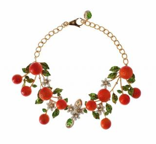 Dolce & Gabbana runway fruit and flowers necklace