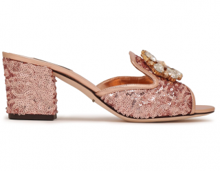 85c7afcb277c Dolce   Gabbana Rose Gold  Bianca  Mules