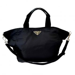 Prada Black Nylon Maxi Travel Bag