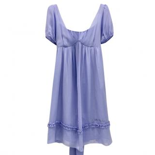 Blugirl Folies Lavender Blue Silk Dress