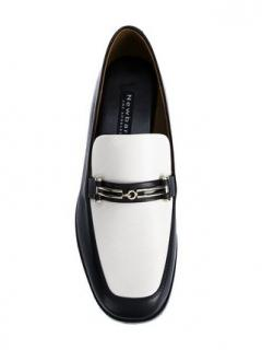 Newbark Black & White Melanie Loafers