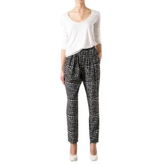 Stella McCartney Abstract Heart-Print Trousers