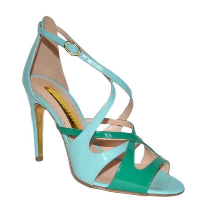 Rupert Sanderson Bi-Colour Leather Sandals